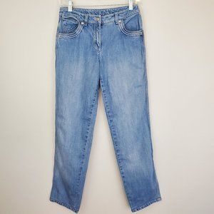 Escada mid rise cropped jeans light wash (148)